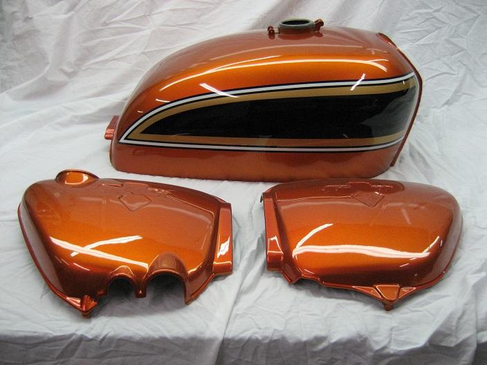Marbles motors honda cb750 flake sunrise orange publicscrutiny Choice Image