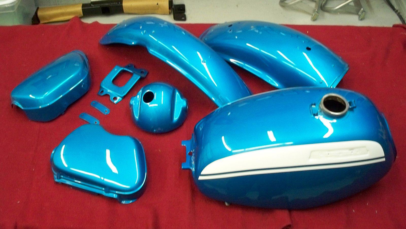 Marbles Motors 1970 Honda Ct70 Paint Colors Sl350 Candy Sapphire Blue