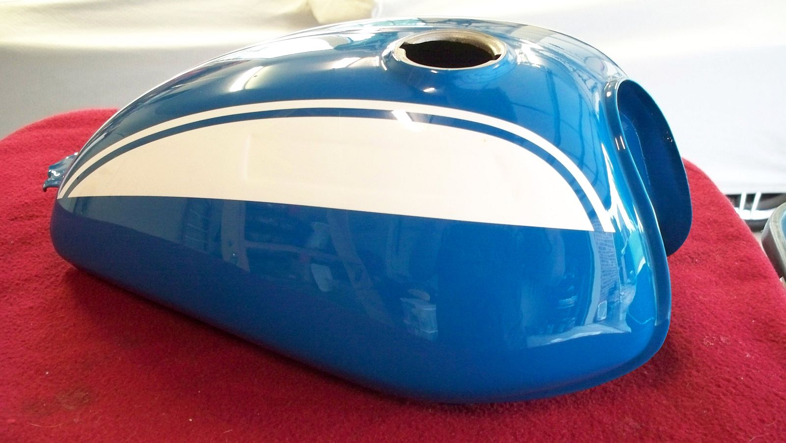 Marbles Motors 1970 Honda Ct70 Fuel Tank Sl70 Aquarius Blue Paint
